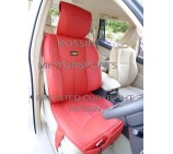 VW Transporter T5 2 Seater Van Seat Covers - YMDX 03 Rossini Red 2 Fronts (a pair)