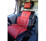 VW Transporter T5 2 Seater Van Seat Covers - YS 06 Rossini Red 2 Fronts (a pair)