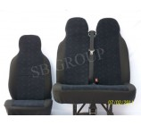Mercedes Vito  van seat covers blue brick design one single one double