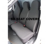 Citroen Dispatch van seat covers grey scout cloth seating fabric one single one double