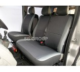 Nissan Cabstar van seat covers- nite flite fabric cloth with leatherette trims