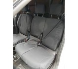 Peugeot Partner Van Seat Covers - Made to Measure - Waterproof Black - Single and Double