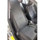 Peugeot Bipper Van Seat Covers - Hexagonal Grey- Two Fronts