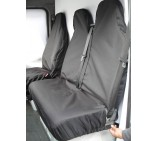 Renault Trafic Sportive van seat covers waterproof black- 1 Single 1 Double