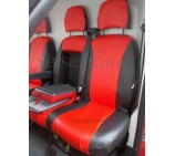 Iveco Daily (2004 - 2014) van seat covers red and black leatherette-made to measure