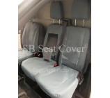 Ford Transit Custom Van Seat Covers- Waterproof Grey Made to Measure