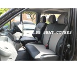 Renault Traffic van seat covers custom fit 157+ leatherette 2006+ models 1 single and 1 double