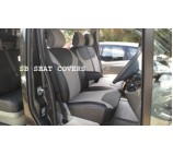 Renault Trafic 9 seater mini bus seat covers- 157 cloth + Black Leatherette VSC905- made to measure set