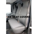 Fiat Ducato van seat covers rack black cloth seating fabric one single one double