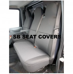 Citroen Dispatch van seat covers rack black cloth seating fabric one single one double