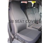 Ford Transit van seat cover anthracite cloth fabric 1 driver's single- 2006+ models