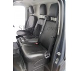 Ford Transit 2014 Van Seat Covers - Made to Measure Black Leatherette