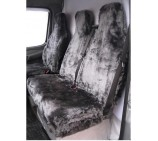 Peugeot Partner Van Seat Covers Grey Panther Faux Fur Fabric