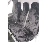 Peugeot Partner Van Seat Covers Black Panther Faux Fur Fabric