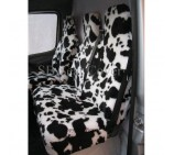 Citroen Berlingo Van Seat Covers Black And White Cow Fur Fabric