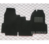Ford Transit van one piece floor mat in black carpet 2006+ models