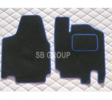 Citroen Dispatch van floor mat in black carpet with blue piping 2008+ models