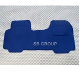 Vauxhall Vivaro van one piece floor mat in blue carpet