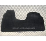 Citroen  Dispatch van mat 1 piece checkered rubber mat custom fit- 1996-2006 Van Floor Mats
