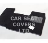 Peugeot Boxer Van, 2008 onwards, Black Carpet + Silver Piping Mat