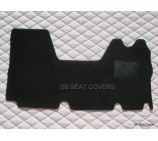 Renault Master van one piece floor mat in black carpet 2003 - 2010 models