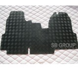 Ford Transit van floor mat 1 piece checkered rubber mat custom fit- 06 onwards model