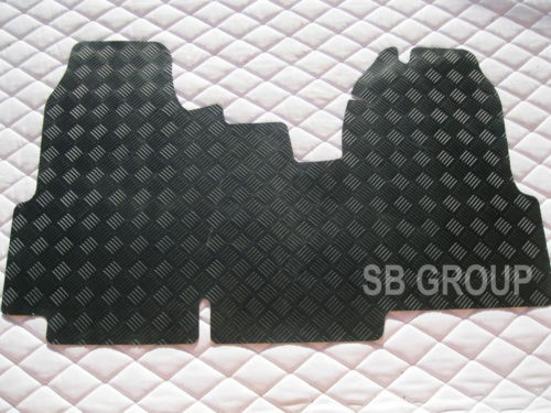 Ford transit van floor mat 1 piece checkered rubber mat for 1 piece floor mats