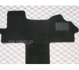 Fiat Ducato Motorhome floor mat complete one piece in black carpet -2003+ models