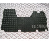 Renault Master van mat 1 piece checkered rubber mat custom fit- 2003 - 2010 Model