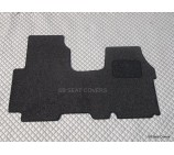 Renault Traffic van floor mat complete one piece in black carpet
