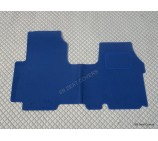 Renault Traffic van one piece floor mat in blue carpet