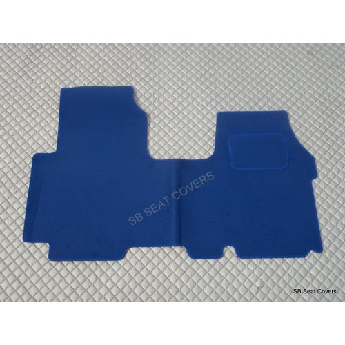 Nissan primastar van one piece floor mat in blue carpet for 1 piece floor mats
