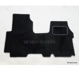 Renault Traffic van floor mats in black carpet with silver piping