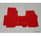 Renault Traffic van one piece floor mat in Red carpet