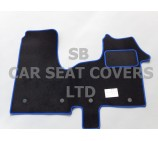 Vauxhall Vivaro Van, 2014 onwards, Black Carpet with Blue Piping