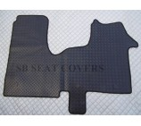 Vauxhall Vivaro 2014 onwards van floor mat custom fit 1 piece checkered rubber mat