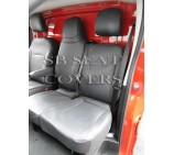 Nissan Primastar 2014 (new shape) Van Seat Covers - Made to Measure - Leatherette Black