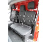 Nissan Primastar 2014 (new shape) Van Seat Covers - Made to Measure - Waterproof Black