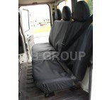 Ford Transit crew cab tipper seat covers waterproof canvas black