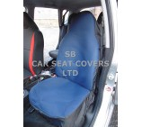 VW Transporter T5 Van Seat Covers - Navy Waterproof - 2 Fronts