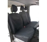 Peugeot Expert Van Seat Covers - Made to Measure - Waterproof Black
