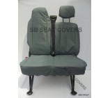 Nissan NV400 Van Seat Covers - Made to Measure - Waterproof Grey