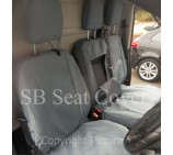 Renault Trafic Van Seat Covers  - Waterproof Grey -  Made to Measure