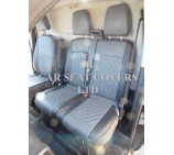 Ford Transit Custom Van Seat Covers - Rossini Bentley Diamond Grey & Black