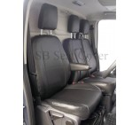 Ford Transit Custom Van Seat Covers - Made to Measure Black Leatherette