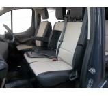 Ford Transit Custom Van Seat Covers- Beige and Black Leatherette