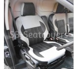 "Ford Transit Custom Van - ""Titanium Style"" Black and Grey Leather Seat Covers"