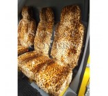 FORD TRANSIT CUSTOM VAN SEAT COVERS GOLD CHEETAH FUR