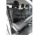 Nissan Primastar crew cab (old shape up to 2014) van seat covers waterproof black