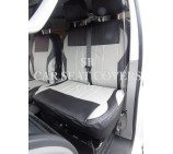 VW Transporter T6 Van Seat Covers - Titanium Grey & Black Made to measure leatherette